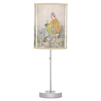 Vintage Rainy Day Frog Table Lamp