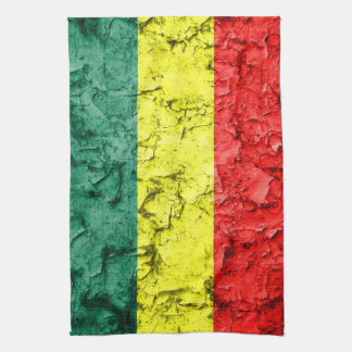 Vintage rasta flag kitchen towel