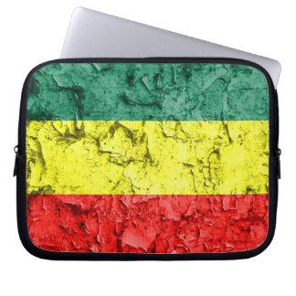 Vintage rasta flag laptop computer sleeve
