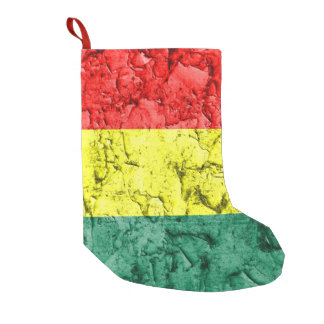Vintage rasta flag small christmas stocking