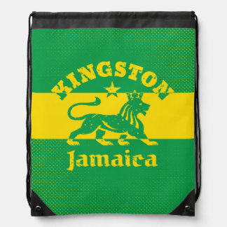 Vintage Rastafarian Kingston Jamaica Drawstring Bags