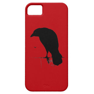 Vintage Raven on Blood Red Template iPhone 5 Cover