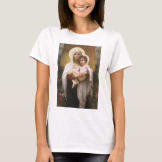 Vintage Realism, Madonna of the Roses, Bouguereau T-Shirt
