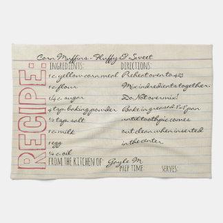 Vintage Recipe Card-Cornbread Recipe-Customize it! Towels