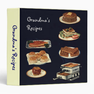 Vintage Recipes Book, all american cookery Vinyl Binders