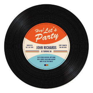 Record Invitations & Announcements | Zazzle Canada