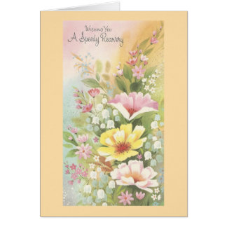 Vintage Recovery With Flowers Card