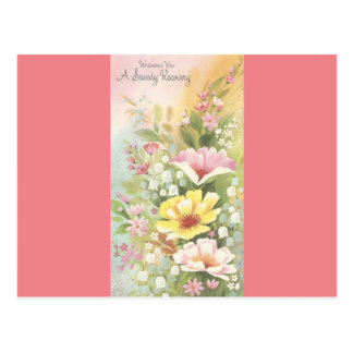 Vintage Recovery With Flowers Postcard