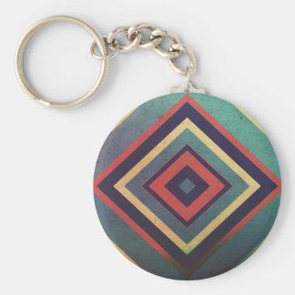 Vintage rectangular colorful keychain