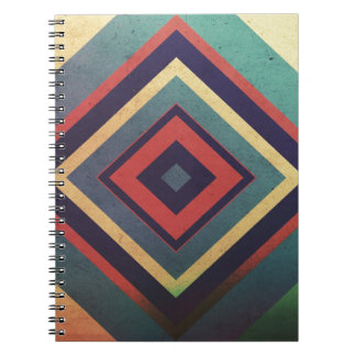 Vintage rectangular colorful notebook