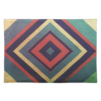 Vintage rectangular colorful placemat
