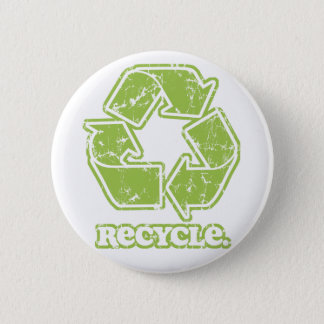 Vintage Recycle Sign Round Button