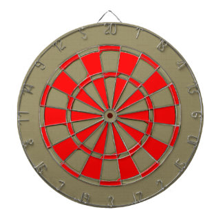 Vintage red abstract carving dartboard