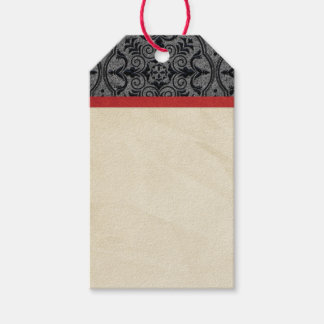 Vintage red and black gift tags