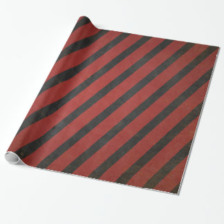 Vintage red and black striped wrapping paper