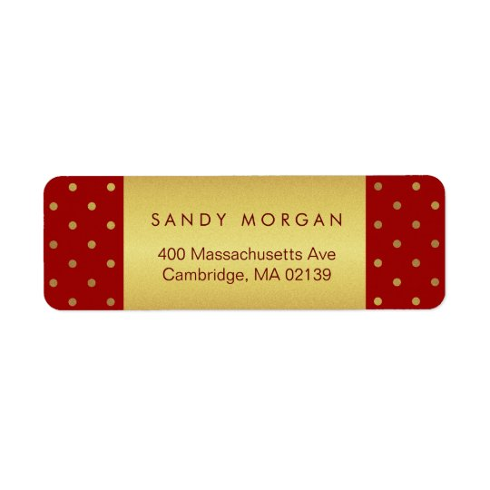 Vintage Red and Gold Polka Dots
