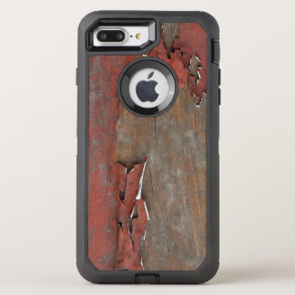 Vintage Red Barn Wood OtterBox Defender iPhone 8 Plus/7 Plus Case