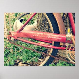 Vintage Red Bicycle Poster