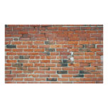 Vintage Red Brick Wall Texture Poster