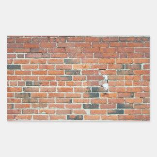 Vintage Red Brick Wall Texture Sticker