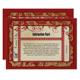 Vintage Red Broadway Old Hollywood Ticket Wedding Card
