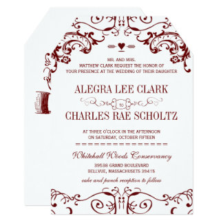 Vintage Red Burgundy Wine Typography Invitation