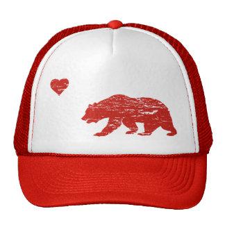 Vintage Red California Love Trucker Hat