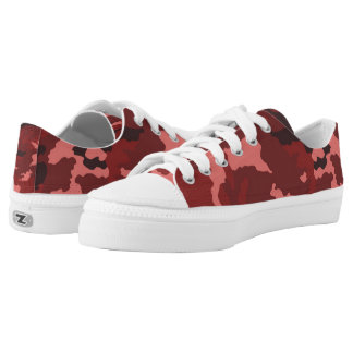Vintage Red Camouflage... Low-Top Sneakers
