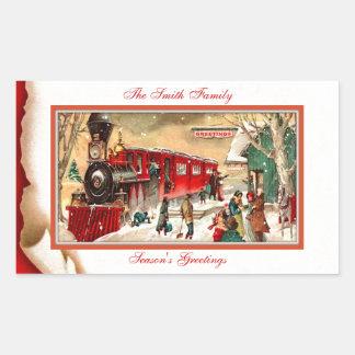 Vintage Red Christmas Train