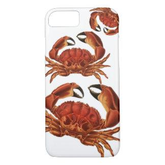 Vintage Red Crabs Crustacean Shellfish Pinchers iPhone 7 Case