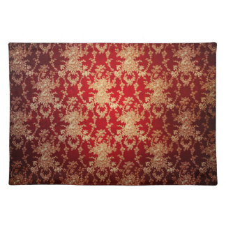 Vintage Red Damask Placemat