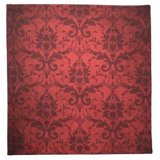 Vintage Red Damask Wallpaper Napkin