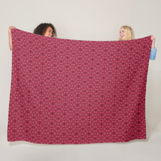 Vintage Red Denim Silk Pattern Quilt Fleece Blanket