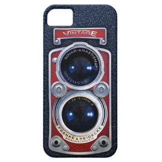 Vintage RED Double lens camera case