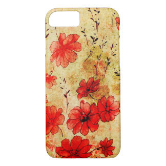 Vintage Red Flowers iPhone 7 Case