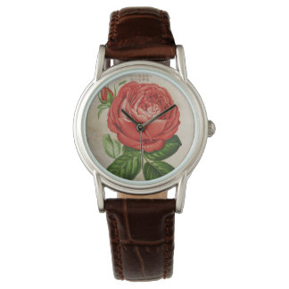 Vintage Red Hybrid Perpetual, Paul Neyron Rose Watch