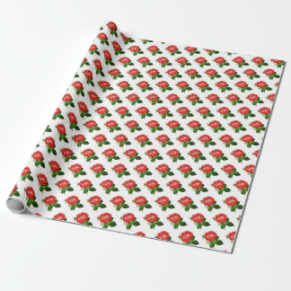 Vintage Red Hybrid Perpetual, Paul Neyron Rose Wrapping Paper