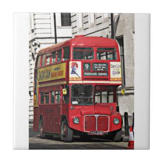 Vintage red London Bus Tile