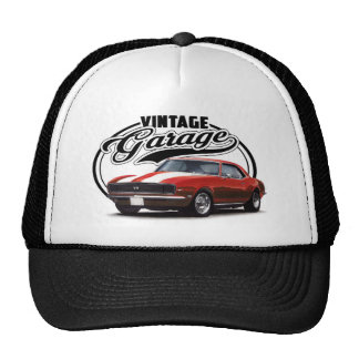 Vintage Red Muscle Car Trucker Hat