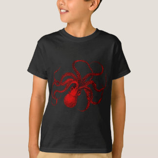 Vintage Red Octopus T-Shirt