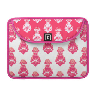 Vintage red/pink colour background sleeve for MacBooks