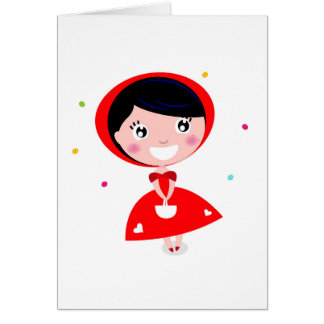 VINTAGE RED RIDING HOOD CARD