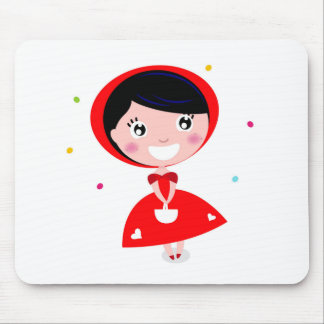 VINTAGE RED RIDING HOOD MOUSE PAD