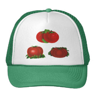 Vintage Red Ripe Tomatoes Food, Fruits, Vegetables Trucker Hat