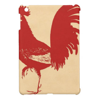 vintage-red-rooster--ON ALL ITEMS iPad Mini Covers