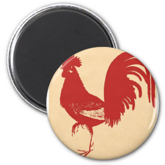 vintage-red-rooster--ON ALL ITEMS Magnet