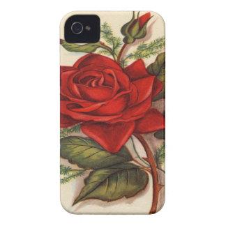 Vintage, Red Rose Blackberry Case