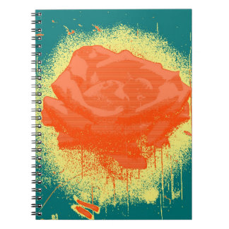 Vintage Red Rose Fine Art Spiral Notebook