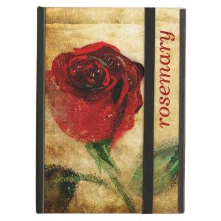 Vintage Red Rose Grunge iPad Case