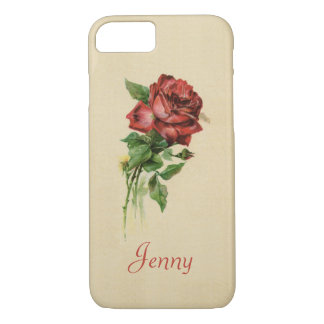 Vintage Red Rose iPhone 7 Case